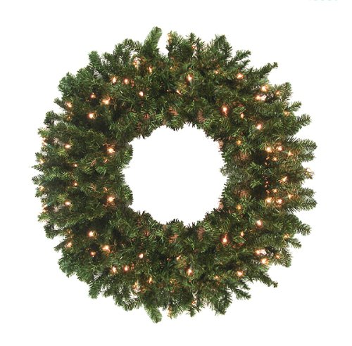 36″ Pre-Lit Canadian Pine Artificial Christmas