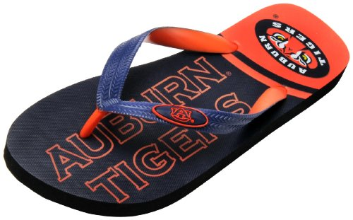 NCAA Auburn Tigers Spirit Flip Flops (Navy, Small) at Amazon.com