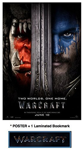 Old Tin Sign poster(8x12inch)WarCraft Finish Travis Fimmel Paula Patton +PLUS 1 Laminated Bookmark