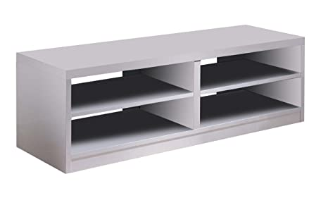 OVERHOME365 4147 B - Mesa TV, madera, color blanco, 120x40x49 cm
