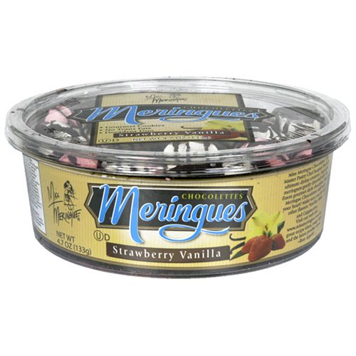 Buy Miss Meringue Strawberry Vanilla Chocolette Meringue Chocolettes, 4.7-Ounce Containers (Pack of 6) (Miss Meringue, Health & Personal Care, Products, Food & Snacks, Snacks Cookies & Candy, Cookies, Chocolate Cookies)
