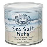 Blue Crab Bay Co. Sea Salt Nuts, 12-Ounce Packages (Pack of 4) ~ Blue Crab Bay Co.