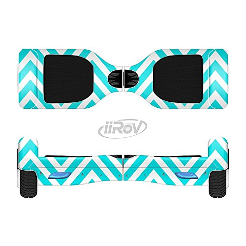 The-Trendy-Blue-Sharp-Chevron-Pattern-Full-Body-Wrap-Skin-Kit-for-the-iiRov-HoverBoards-and-other-Scooter-HOVERBOARD-NOT-INCLUDED