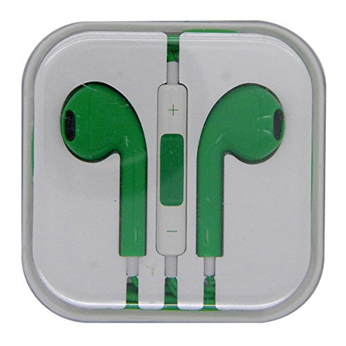 Green Color Stereo Bass Headphone Mic Volume Control Remote Earphone Earpods Headset For Iphone 4 4S 5 5S Ipad 2 3 4