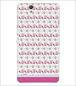 PrintDhaba Pattern D-1666 Back Case Cover for SONY XPERIA C4 (Multi-Coloured)
