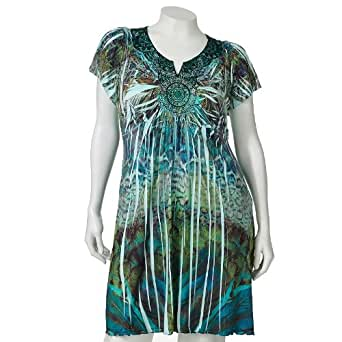 apt 9 printed sublimation dress s plus at