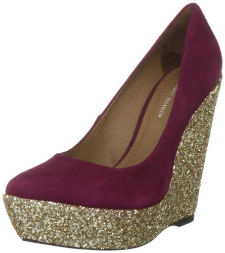 KG by Kurt Geiger Women's Hoshiko Wine Wedge Heel 1945654109 3 UK
