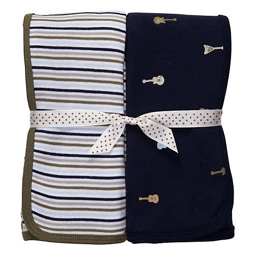 Carter's Blue & Grey Rockstar 2-pk. Swaddle Blanket NAVY/MULTI One Sz