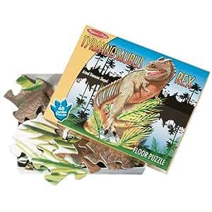 Dinosaur Floor Puzzle - T-Rex Extra-Thick 48pc Floor Puzzle - 3 Feet Long