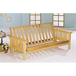 Coaster home furnishings 4838 casual futon for Mission style bed frame plans