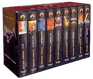 Coffret Star Trek 9 VHS : Star Trek, le film / Star Trek II, la colère de Khan / Star Trek III, à la recherche de Spock / Star Trek IV, retour sur Terre / Star Trek V, l'ultime frontière / Star Trek VI, terre inconnue / Star Trek VII, générations / Star Trek VIII, premier contact / Star Trek IX, insurrection