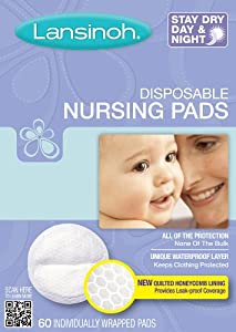 Lansinoh 20265 Disposable Nursing Pads, 60-Count