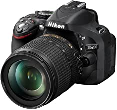 "Nikon D5200 - Cámara réflex digital de 24.1 Mp (pantalla 3"", vídeo Full HD), negro - Kit con objetivo AF-S DX 18-105mm VR (importado)"