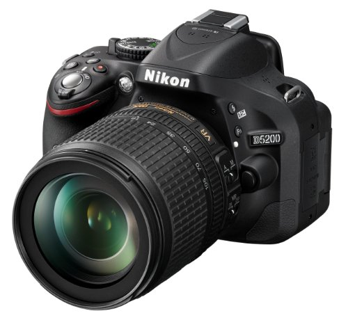 Nikon-D5200-Fotocamera-Digitale-SLR-241-Megapixel-Display-TFT-da-76-cm-3-Pollici-Full-HD-HDMI-kit-incl-Obiettivo-AF-S-DX-18-105-mm-VR-Colore-Nero-Versione-EU