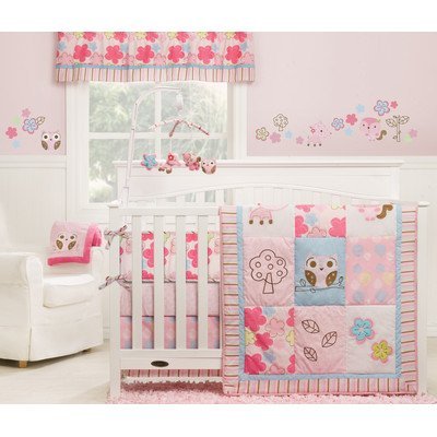 Girl Woodland 3 Piece Crib Bedding Collection front-957067