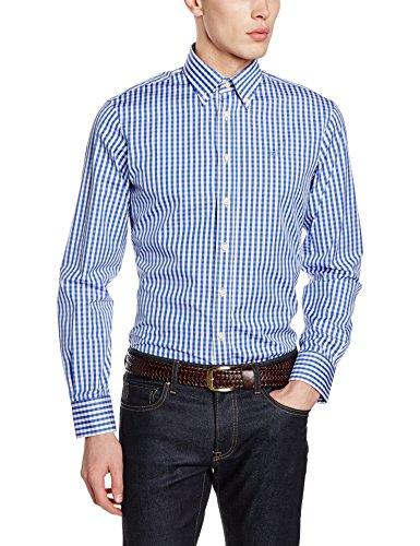 hackett-london-classic-check-chemises-decontractees-homme-blue-sky-blue-white-large
