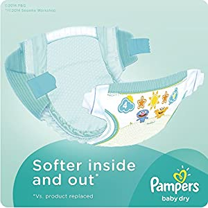 Pampers Baby Dry Diapers, Size N, Super Pack, 104 Count from Pampers