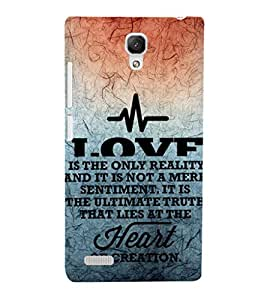 EPICCASE creation of heart Mobile Back Case Cover For Xiaomi Redmi Note 4G (Designer Case)