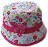 GIZZY® Girls Pink Butterfly Motif Bush Hat