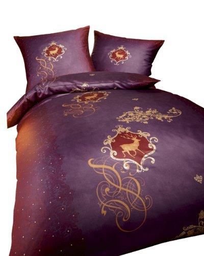 bettw sche de kaeppel g 008565 55d3 vakw bettw sche 2 teilig maerchenwald 155 x 220 cm biber. Black Bedroom Furniture Sets. Home Design Ideas