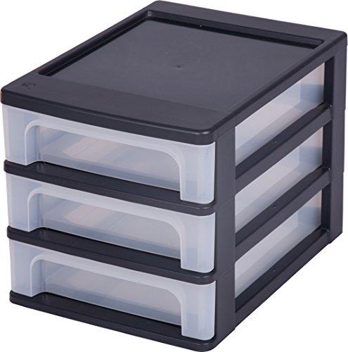 preisvergleich iris 144001 a 4 tischschubladen schubladenbox mit 3 willbilliger. Black Bedroom Furniture Sets. Home Design Ideas
