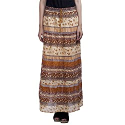 MansiCollections Women's Causal Printed A-Line Skirt (26)