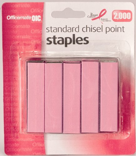 Officemate Breast Cancer Awareness Standard Staples 105
