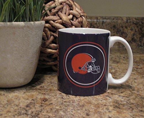 Cleveland Browns Nfl Round Logo Ceramic Coffee Mug