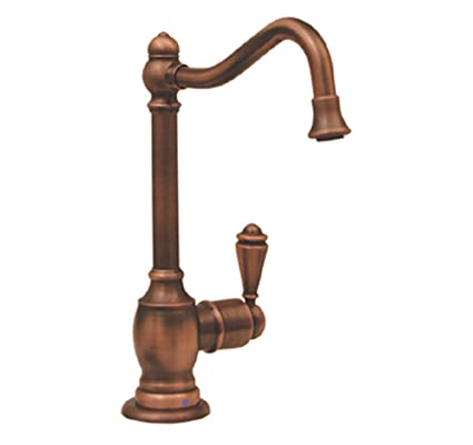 Whitehaus WHFH-C3132-BN Point Of Use 5 1/2-Inch Drinking Water Faucet with Traditional Spout, Brushed Nickel