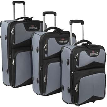 Maestro Luggage Concord Polo Club Classic Lightweight 3-Piece Luggage Set