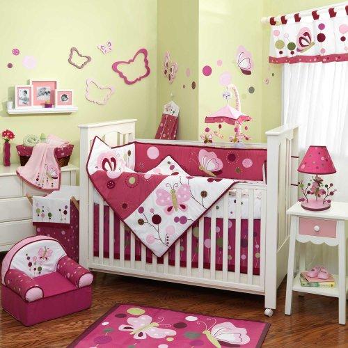 Raspberry Swirl 5 Piece Baby Crib Bedding Set Plus Free Sheet Saver By Lambs & Ivy front-1047688