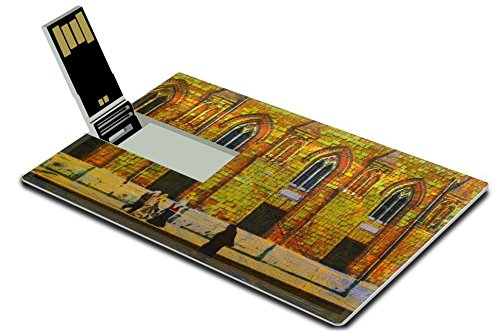 Liili 32GB USB Flash Drive 2.0 Memory Stick Credit Card Size original oil painting of central islamic mosque al azhar in cairo Photo 7036730 Simple Snap Carrying (East Central Oils compare prices)