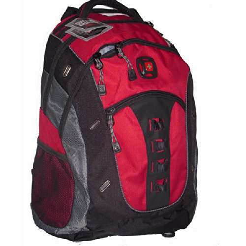 """Swissgear By Wenger The Granite 16"""" Computer Laptop Backpack (Red)"""