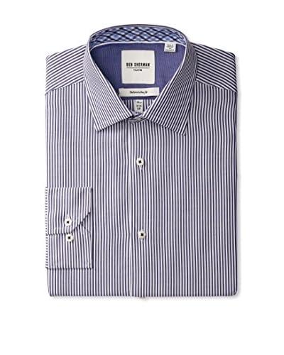 Ben Sherman Men's Thin Stripe Spread Collar Dress Shirt