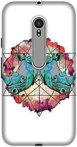 The Racoon Grip printed designer hard back mobile phone case cover for Motorola Moto G 3rd Gen. (Horny Diam)