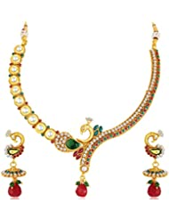 Sukkhi - Kritika Kamra Mayur Gold Plated Kundan Necklace Set