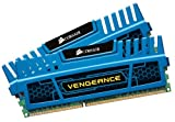 Corsair Vengeance Blue 8 GB (2X4 GB) PC3-12800 1600mHz DDR3 240-Pin SDRAM Dual Channel Memory Kit