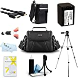 Must Have Accessory Kit For Sony HDR-CX230, HDR-CX330, HDR-CX900, HDR-PJ810, HDR-PJ540 HDR-PJ340, HDR-PJ670, FDR-AX33 HD Camcorder Includes Replacement NP-FV70 Battery + Charger + Case + Tripod + More
