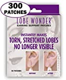 Lobe Wonder 300 Invisible Earring Ear-Lobe Support Patches - Provides Relief for Damaged, Streched Ear-Lobes and Helps Protect Healthy Ear Lobes Against Tearing by Lobe-Wonder