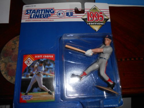 Scott Cooper of the Boston Red Sox Action Figure - 1995 Edition Starting Lineup Sports Superstar Collectible - Major League Baseball Player - 1
