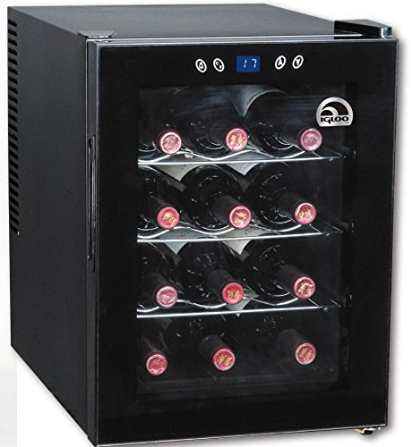 Igloo FRW133 12-Bottle Wine Cooler with Digital Temperature Display, Black (Fridge Igloo compare prices)
