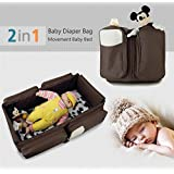 Biaba Collection Mummy Bag Large Capacity Multi-function Combo Pack Portable Folding Baby Bed Mother And Child Travel Cot(Buy One Get 5 In 1 Travel Luggage Organiser Worth RS 899)