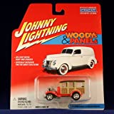 31 FORD MODEL A STATION WAGON * RED * Johnny Lightning 2002 CUSTOM WOODYS & PANELS Release 2 1:64 Sc