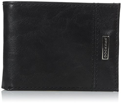 dockers-mens-passcase-wallet-with-logo-detail-black-one-size