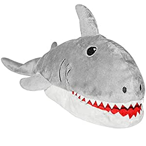 Pet supplies mako the shark squeaky dog toys puppet for Best plush dog toys for aggressive chewers