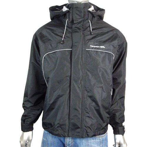Mens Trespass Jacket Coat Black Hooded Hood Fleece Lined Waterproof Ski Size S