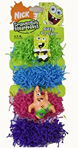 Spongebob Ponytail Scrunchy Bands - Nickelodeon Spongebob Squarepants Silly Ponies (8 Pcs Set)
