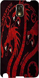 Snoogg Dragon Game 2484 Case Cover For Samsung Galaxy Note 3