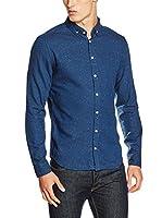 Blend Camisa Hombre (Azul)