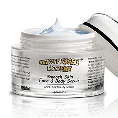 Best Facial & Body Scrub - Powerful microdermabrasion scrub that dramatically improves skin tone, texture, fine lines, age spots, sun spots, and wrinkles diminishing years of damaged skin. Reduce skin discoloration, brighten your complexion, shrinks pore
